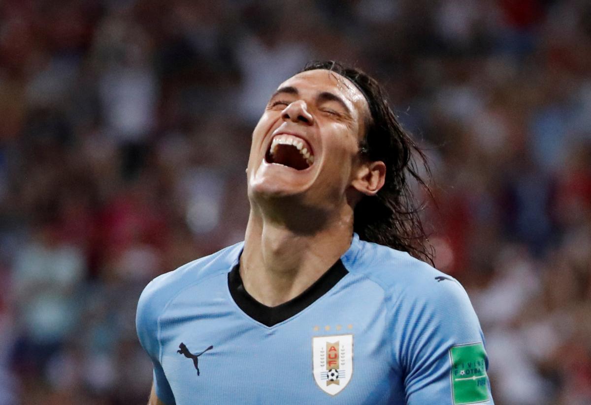 Кавані забив обидва голи збірної Уругваю в матчі з Португалією / Reuters