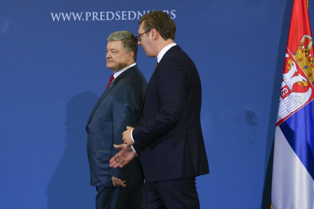 Вучич заверил Порошенко в готовности оказывать помощь Украине в вопросах европейской интеграции / Фото president.gov.ua