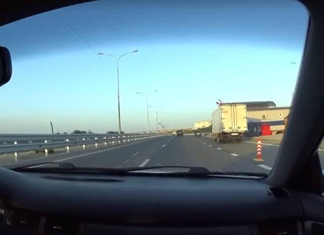 Керченський міст охороняють Росгвардія і ФСБ / Скріншот
