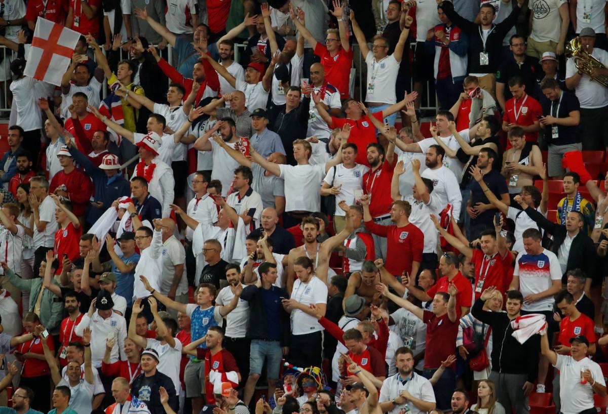 """Вболівальники збірної Англії """"відзначилися"""" на ЧС-2018 / Reuters"""