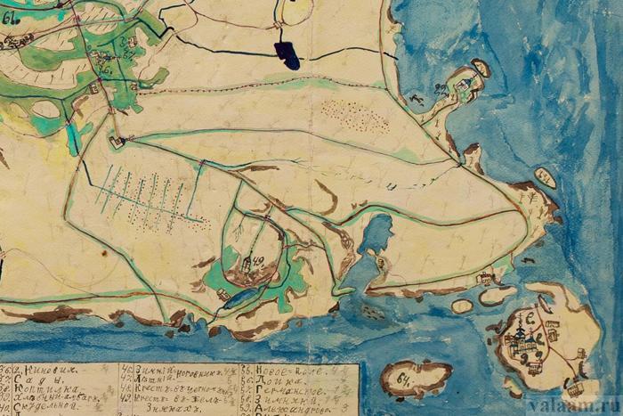 Докладна рукописна карта чернечого острови / valaam.ru
