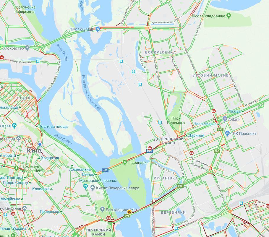 Скріншот - Карті Google