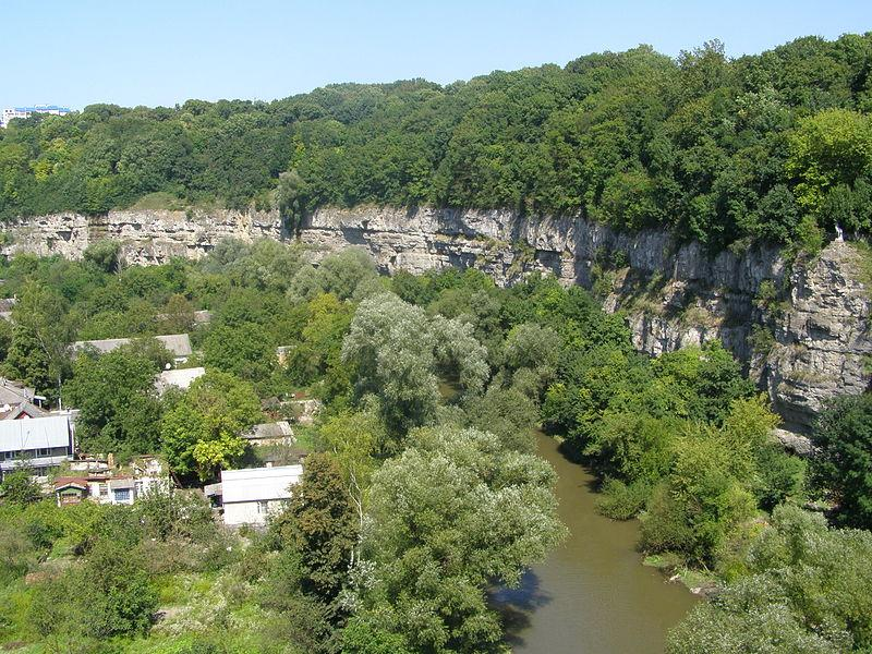 Смотрицький каньйон у Кам'янець-Подільському / Фото uk.wikipedia.org