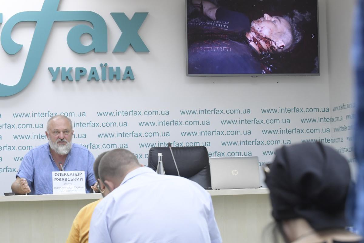 Александр Ржавский на пресс-конференции