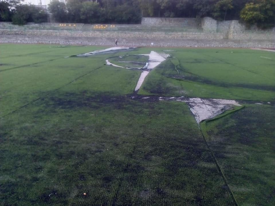 Так выглядит сегодня футбольное поле Детского юношеского центра в Ялте / фото Illona Karaçan, Facebook