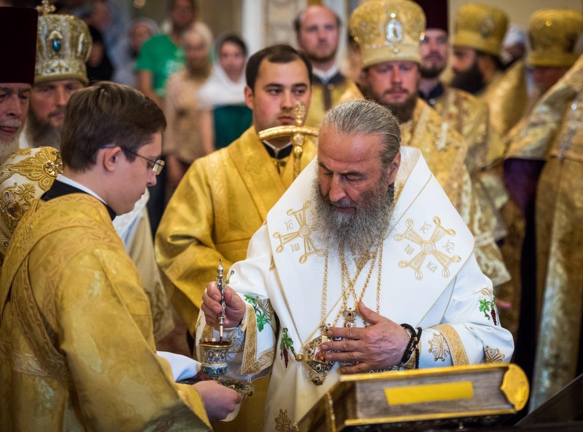 Предстоятель УПЦ очолив богослужіння у Лаврі/ news.church.ua