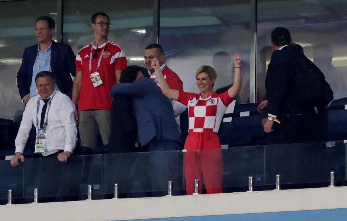 ПрезидентХорватииКолинда Грабар-Китарович на матче в Сочи Россия - Хорватия / REUTERS