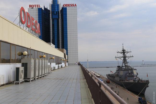 В Одессу прибыл американский эсминец USS Porter DDG78 для участия в учениях Sea Breeze-2018 / фото Думская