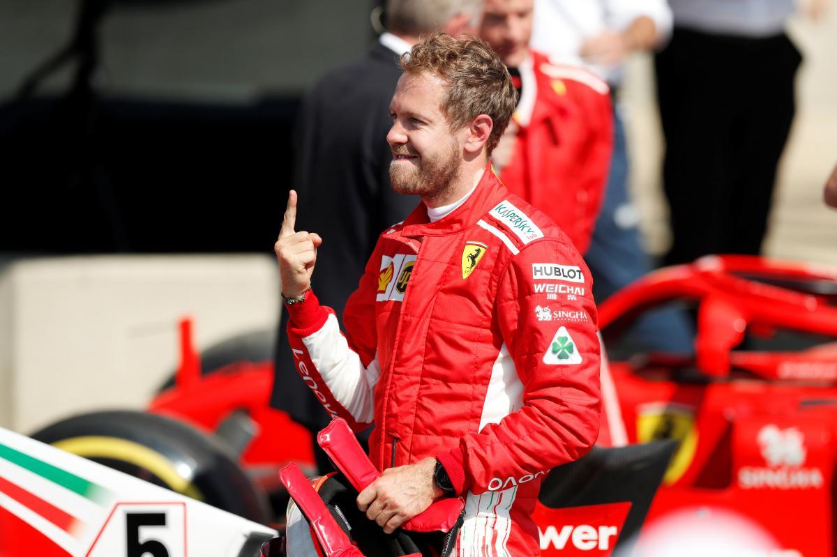 Себастьян Феттель - победитель Гран-при Великобритании / REUTERS