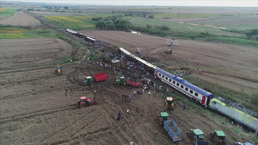 В Турции перевернулся поезд / фото aa.com.tr