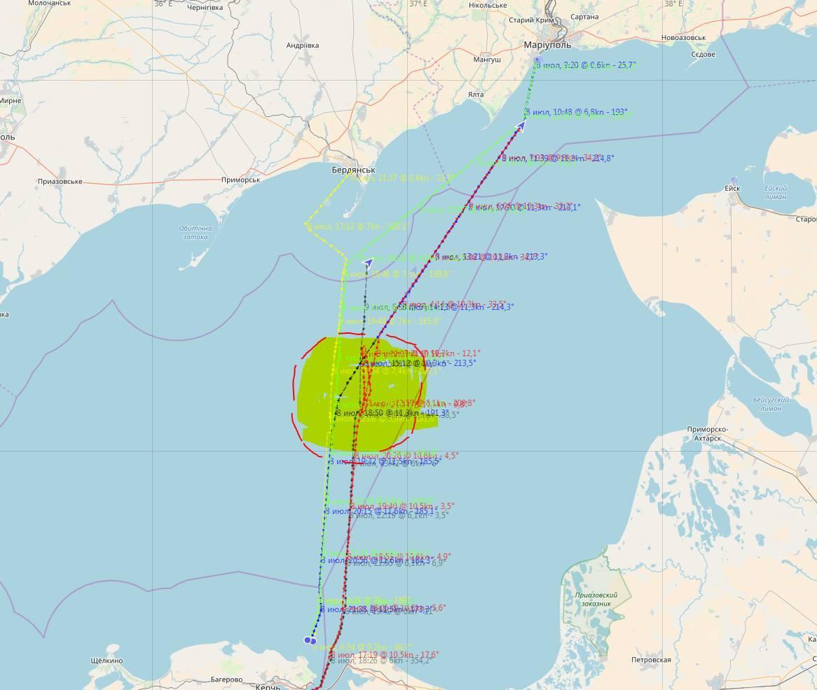 Обострение в Азовском море продолжается / фото facebook.com/Andrii Klymenko
