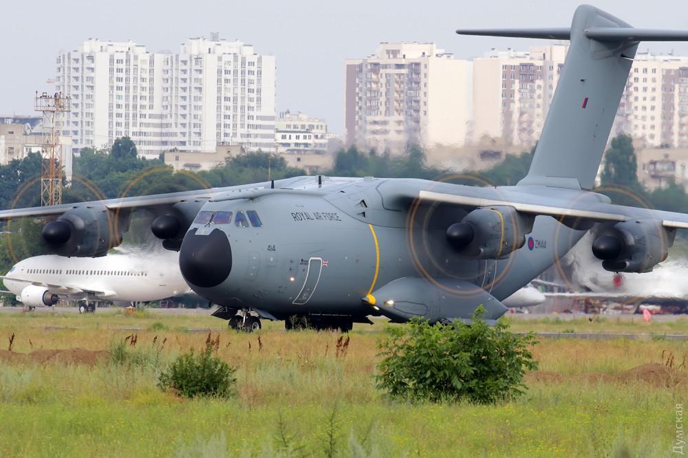 В Одессу прибыл самолет RAF / Думская