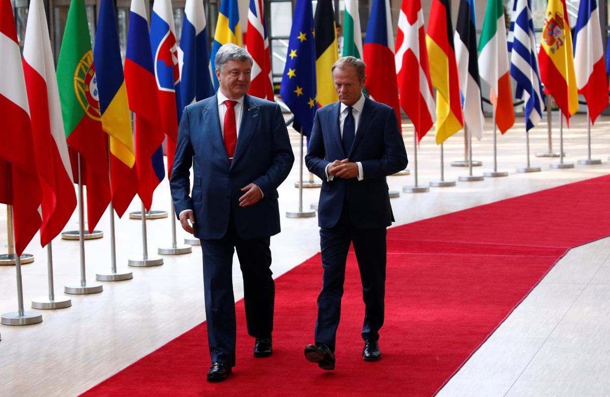Петро Порошенко и Дональд Туск / REUTERS