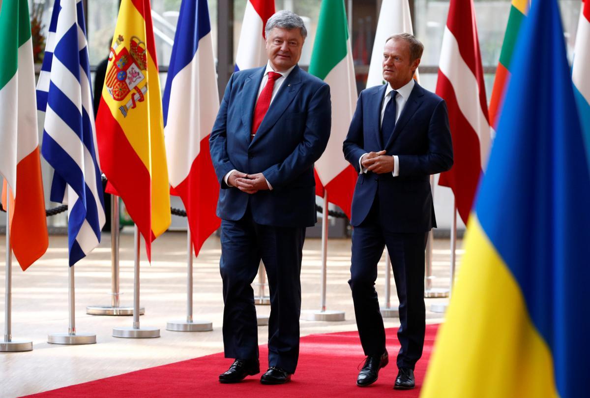 Петр Порошенко и Дональд Туск / REUTERS