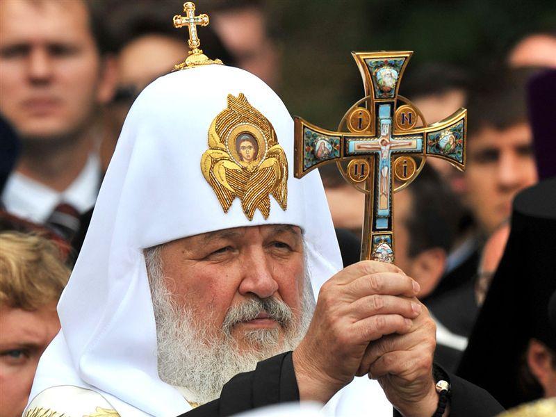Патриарх Кирилл во время праздничного молебна на Владимирской горке в Киеве, 2009 год / vera.foma.in.ua