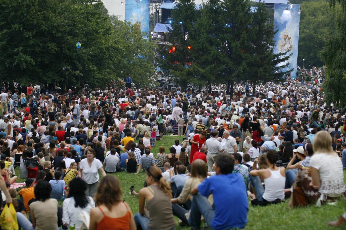 Празднование Дня Крещения Руси на Певчем поле в Киеве, 2007 год / vera.foma.in.ua