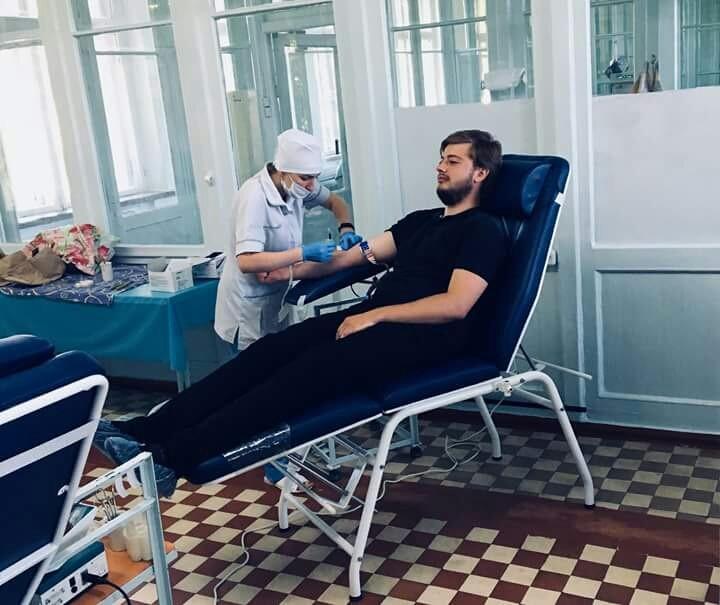 Ровенские священники в очередной раз стали донорами крови / rivne.church.ua