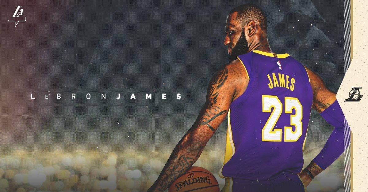 """Леброн Джеймс офіційно став гравцем """"Лейкерс"""" / twitter.com/Lakers"""
