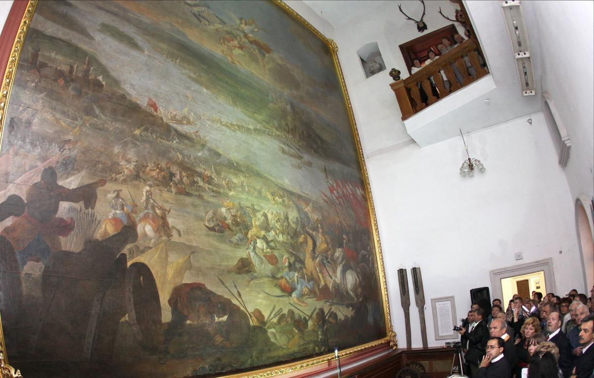 Картина Мартіно Альтомонте «Битва під Парканами» з експозиції замку / Фото Євген Кравс
