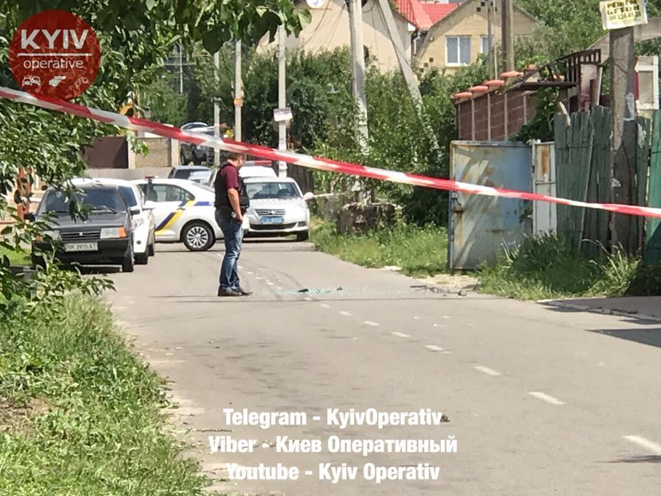 В полиции рассказали подробности стрельбы на Софиевской Борщаговке / фото Киев оперативный