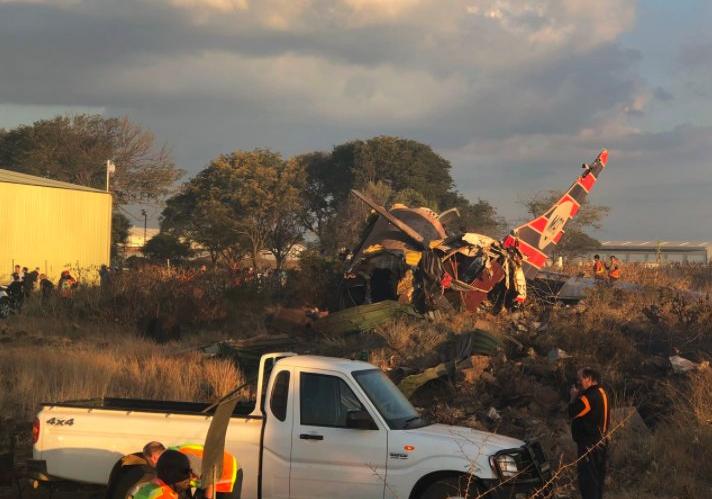 В результате авиакатастрофы в ЮАР погиб человек / фото Twitter @ER24EMS