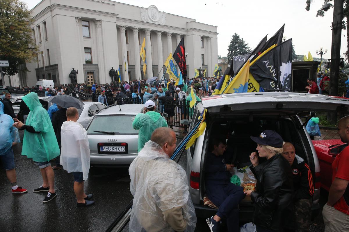 """В поліції розповіли, як проходять акції """"євробляхерів"""" під Радою та Кабміном / УНІАН"""