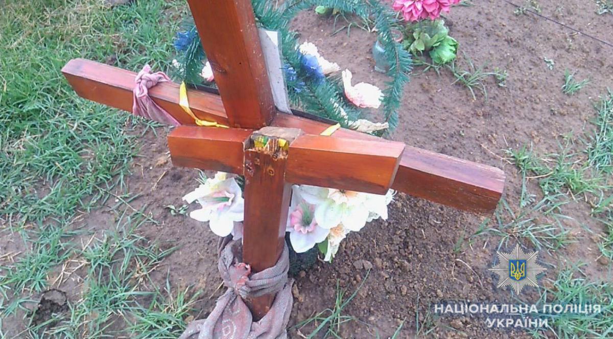 Підліток поглумився над могилами / od.npu.gov.ua