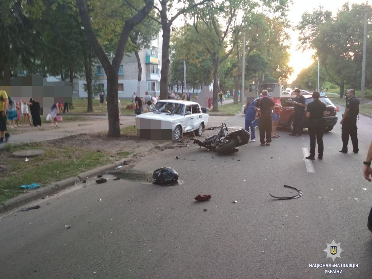 У Харкові в результаті ДТП загинули два мотоциклісти / фото hk.npu.gov.ua