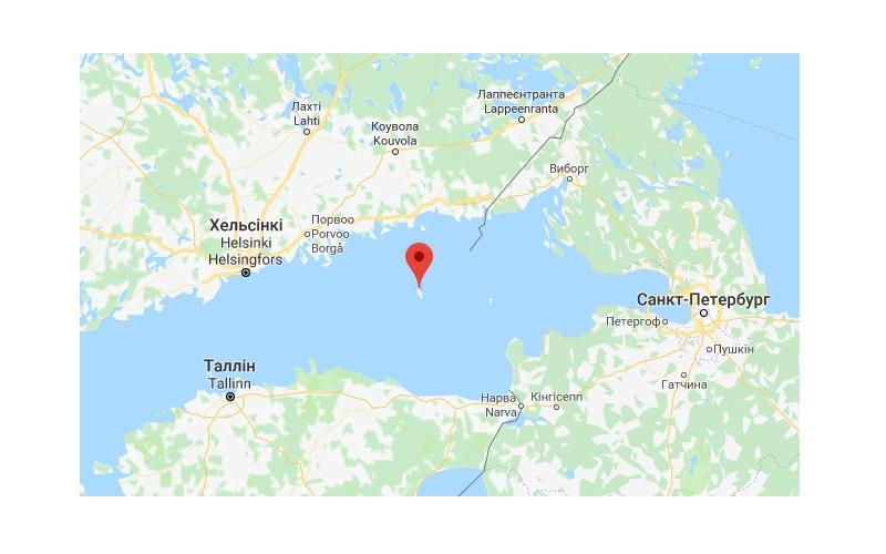 У довоєнний час Гогланд був популярним фінським курортом / Скріншот карти Google