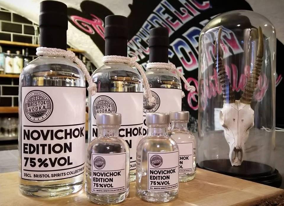 """У Британії розгорівся скандал через горілку з назвою """"Новачок"""" / фото Bristol Dry Gin Micro Distillery"""