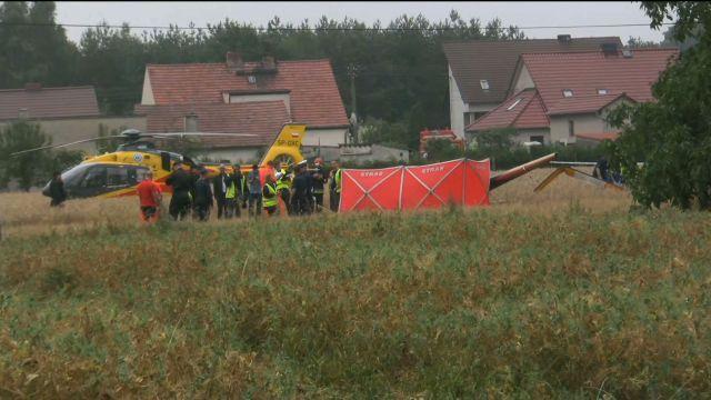 В Польше разбился вертолет, погибли два человека / фото TVN 24