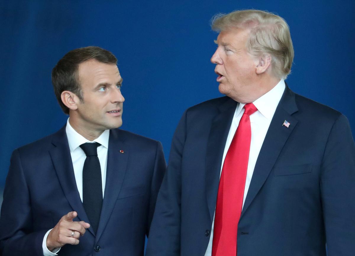 Еммануель Макрон і Дональд Трамп на саміті НАТО / фото REUTERS