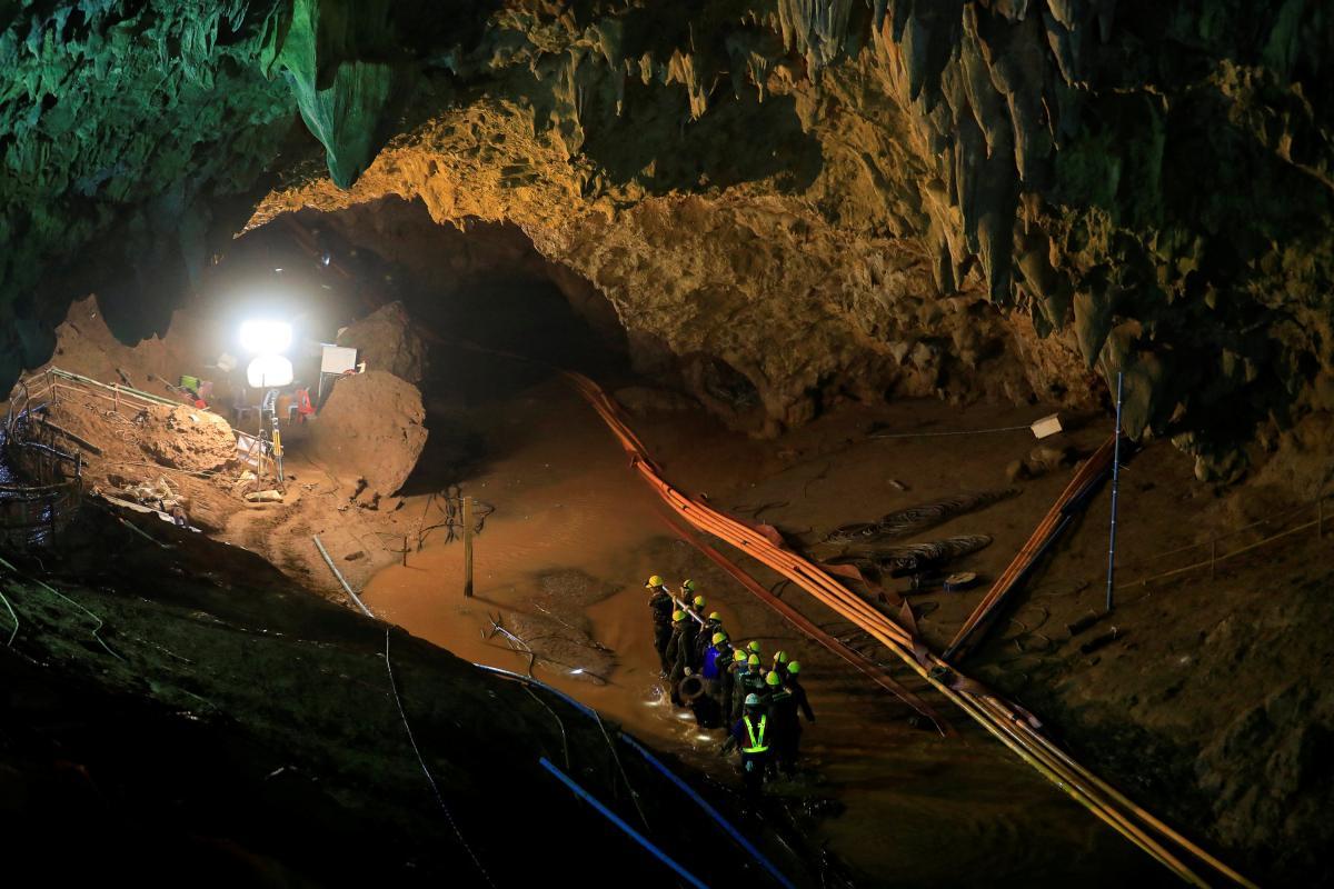 В этой пещере 12 детей и их тренер провели 2,5 недели / Фото REUTERS