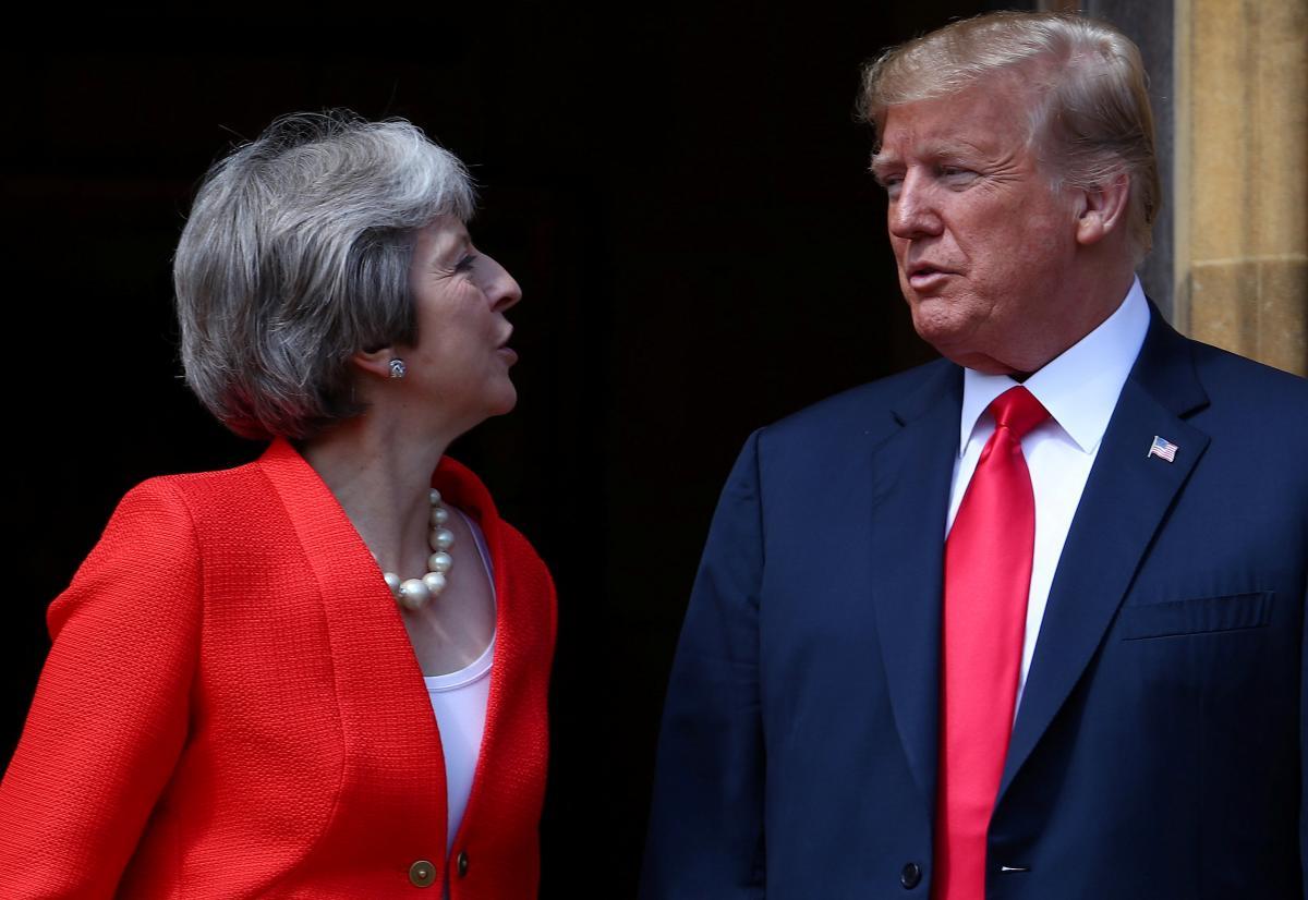 Тереза Мей та Дональд Трамп / фото REUTERS