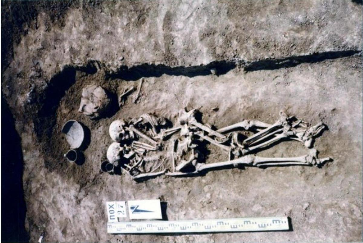 В Украине нашли древнюю могилу с обнимающимися скелетами / фото Николай Бандривский