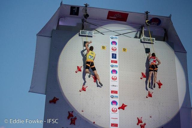 Даниил Болдырев выиграл золото на этапе Большого кубка мира в Шамони / IFSC