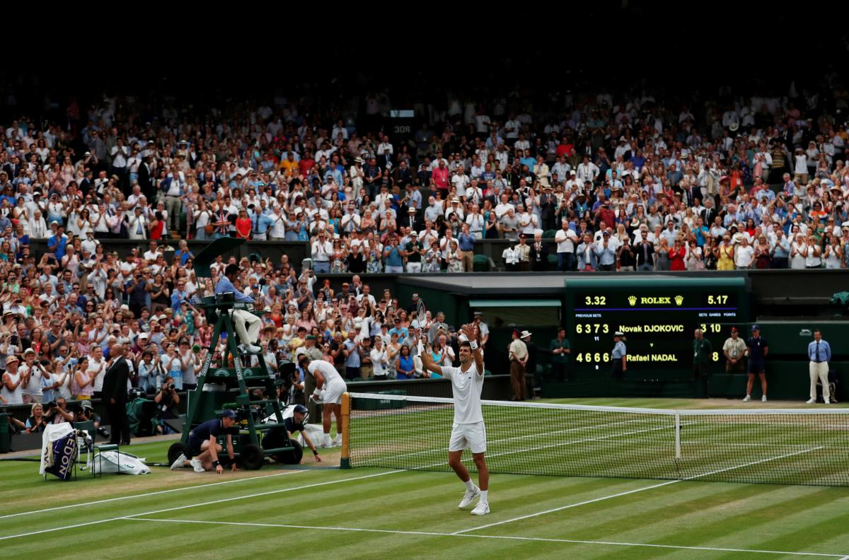 Джокович вышел в финал Уимблдонского теннисного турнира / Reuters