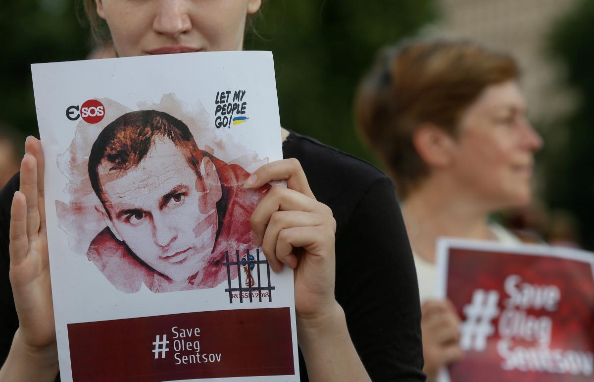Акція на підтримку Олега Сенцова / REUTERS