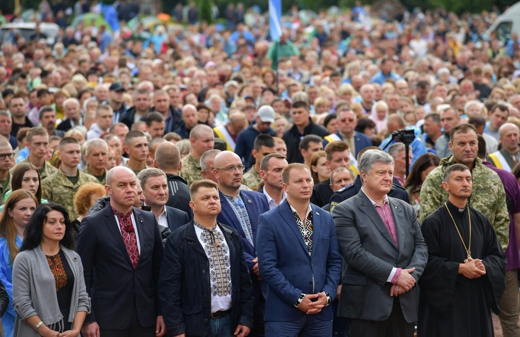 Петр Порошенко принял участие во Всеукраинском паломничестве в Зарванице / president.gov.ua