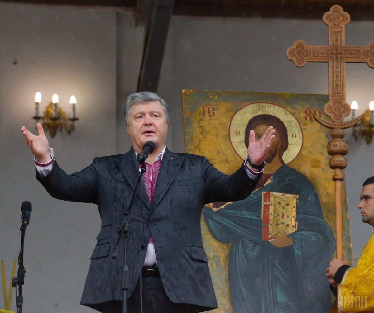 Порошенко закликав українців помолитися за автокефалію для української церкви / УНІАН