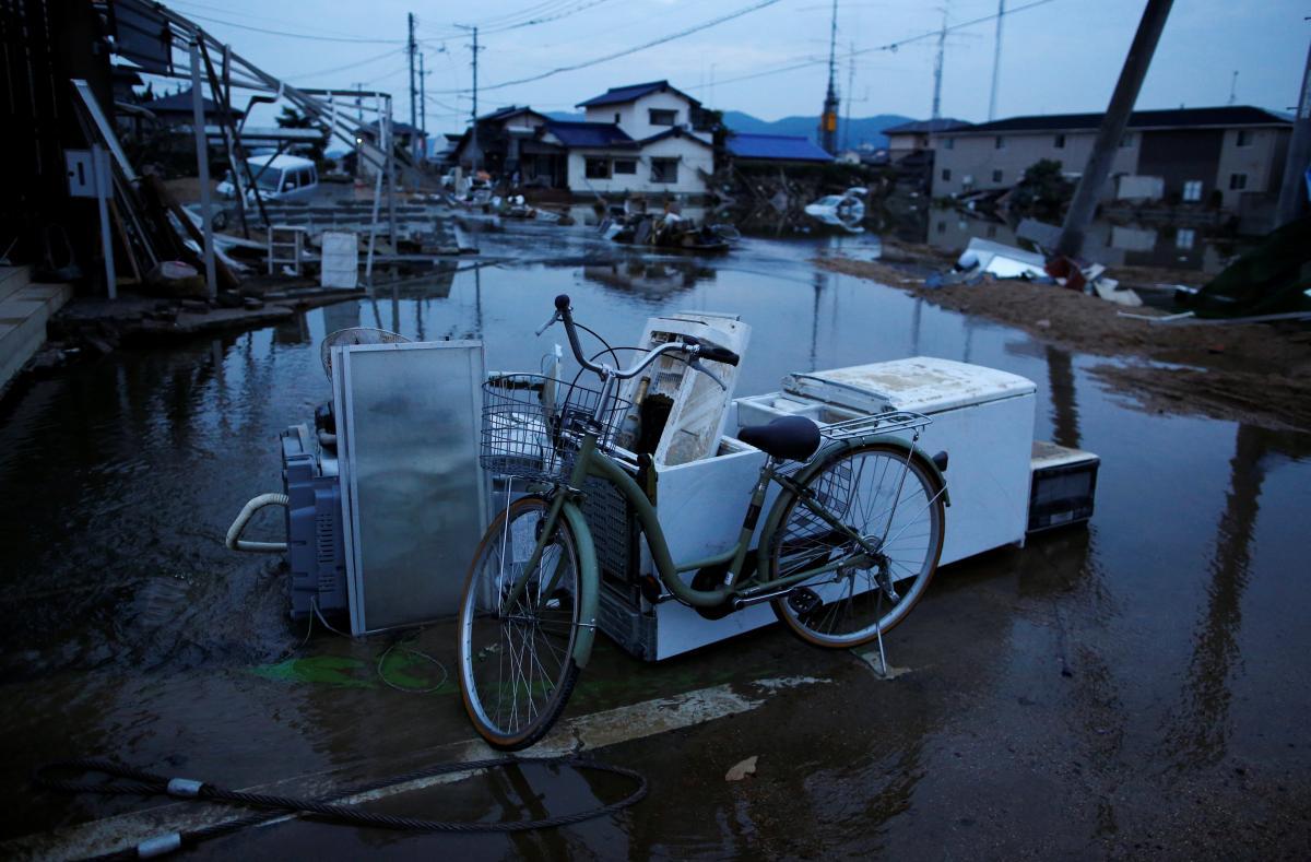 Результати зливи в Японії / REUTERS
