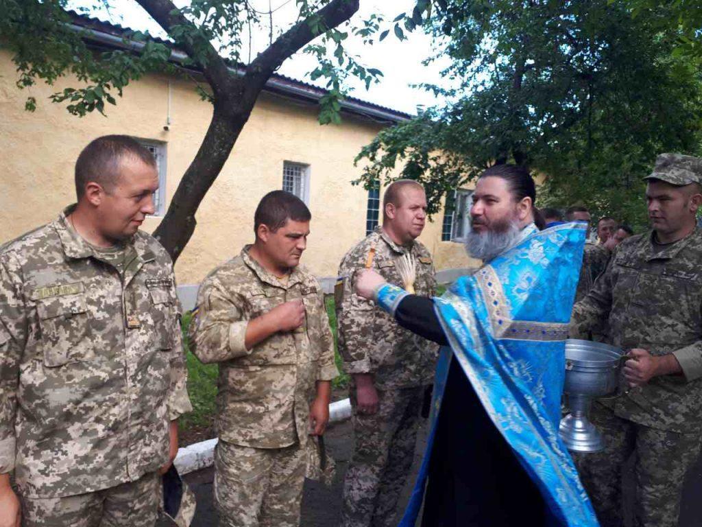 На Закарпатье благословили военнослужащих, которые отбывают на ООС / m-church.org.ua