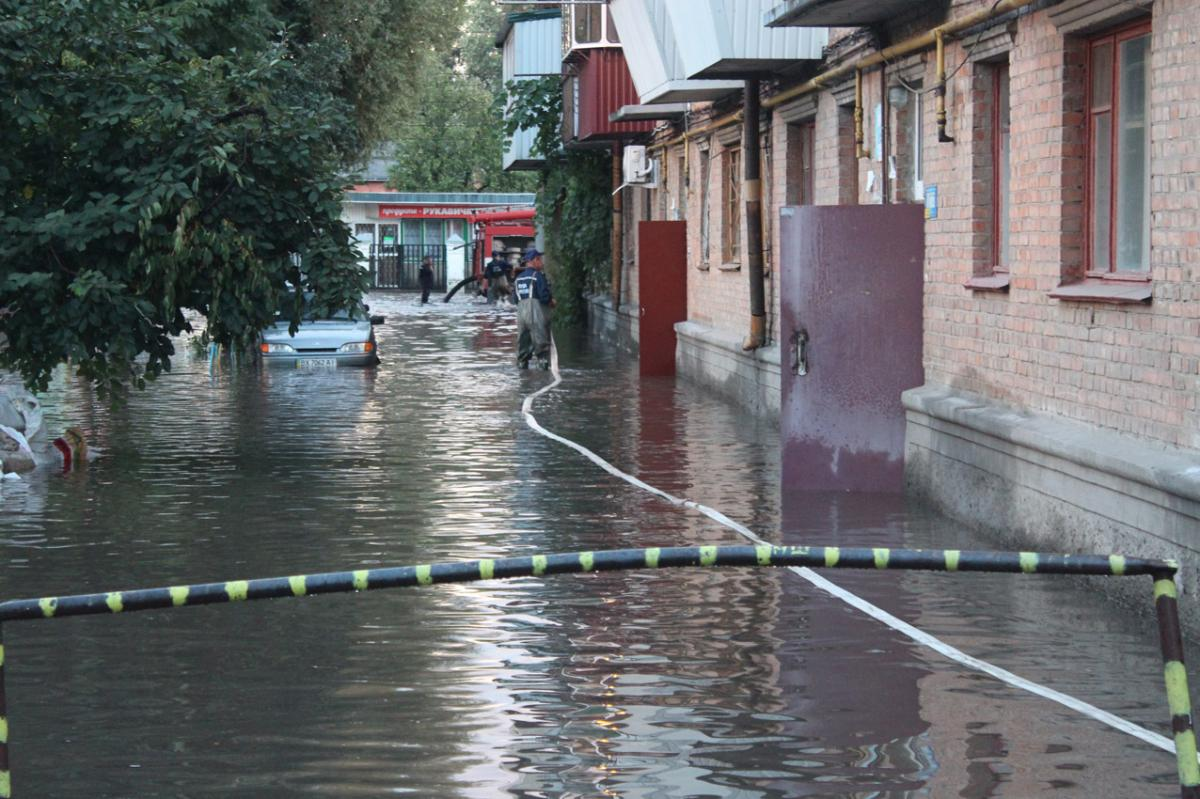 Сильные дожди затопили Хмельницкий / ГСЧС