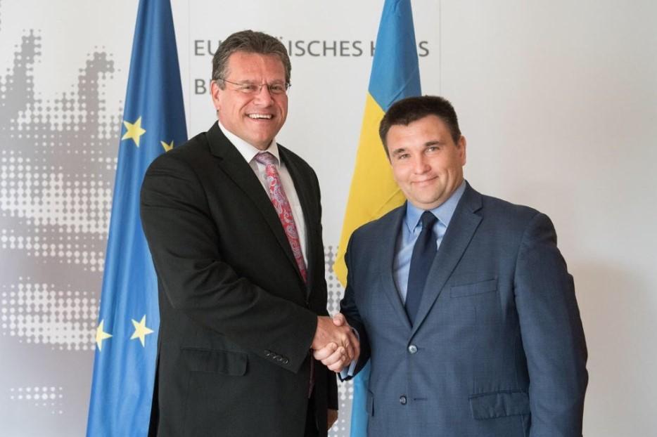 Єврокомісар Марош Шефчович і глава Мзс Павло Клімкін / фото twitter.com/marossefcovic