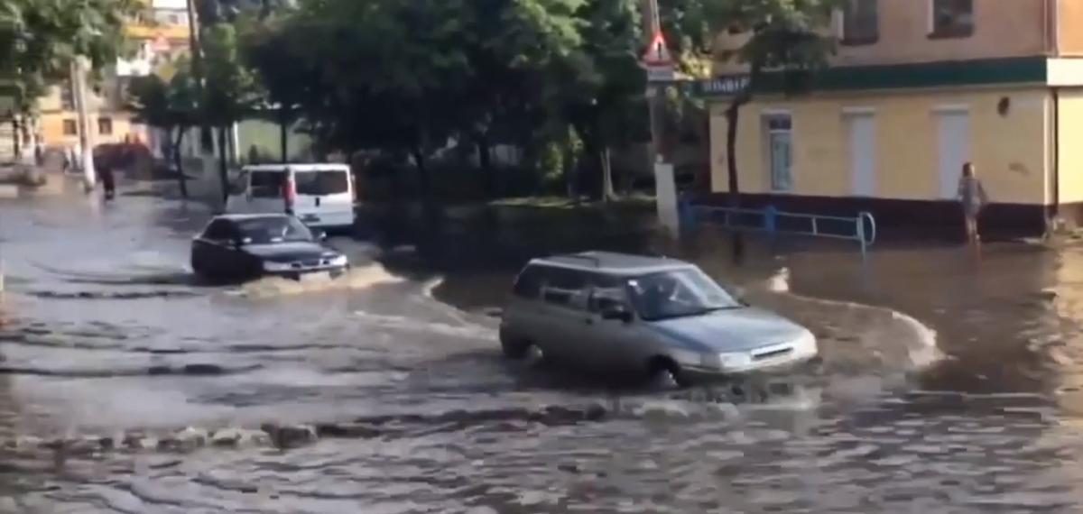 Злива затопила Житомир / скріншот