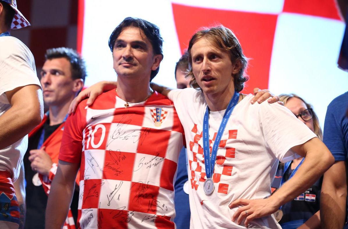 Головний тренер збірної Хорватії Златко Даліч і капітан Лука Модріч / REUTERS