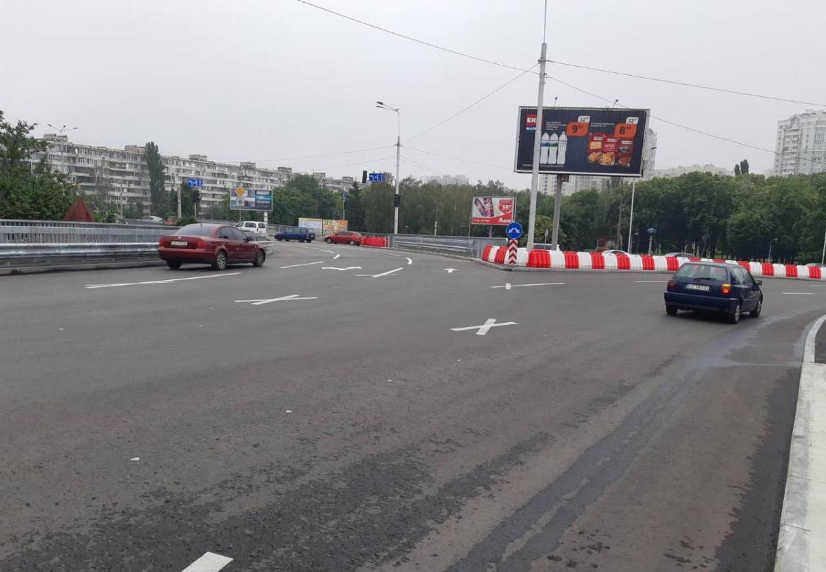 Рух транспорту розв'язкою на перетині Курбаса, Юри та Покотила відкрито / kyivcity.gov.ua