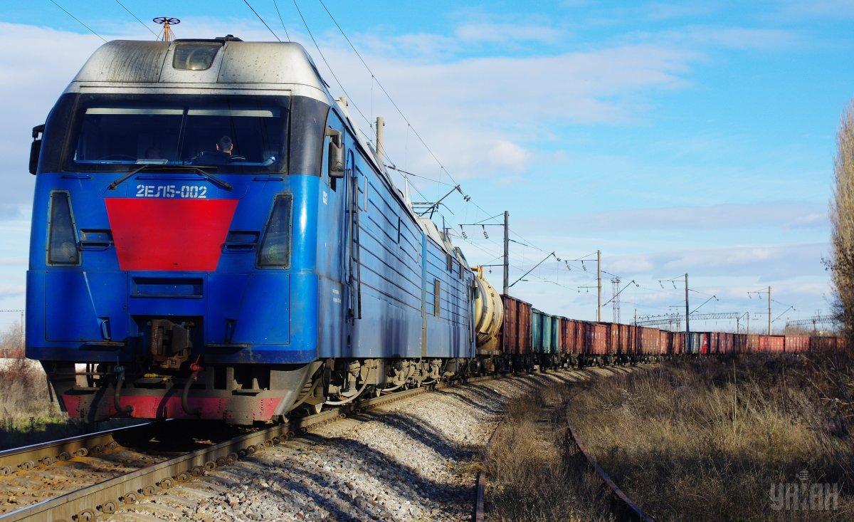 На станції Глинна-Наварія сталася аварія з вантажним потягом / фото УНІАН