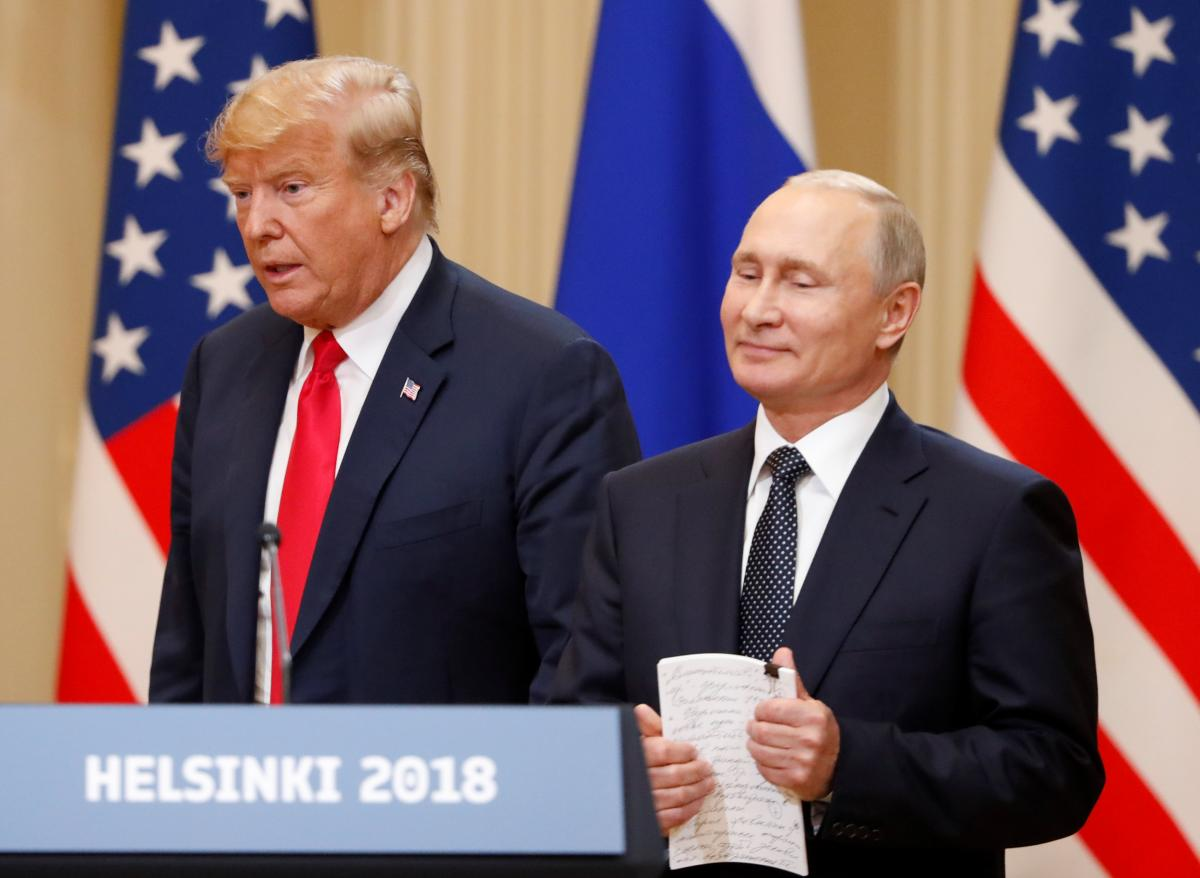 Дональд Трамп и Владимир Путин / REUTERS
