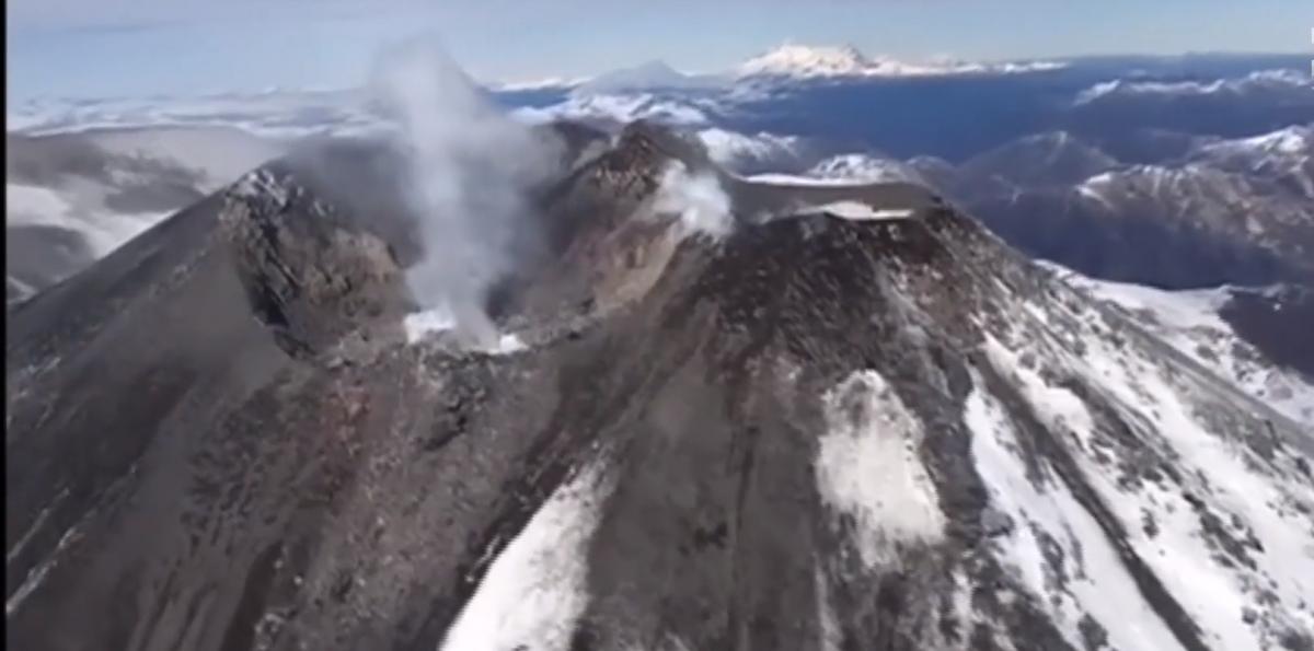 У Чилі прокинувся вулкан / скріншот